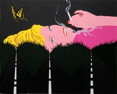 Smoking Blonde, Pop Art Silkscreen by Allan D'Arcangelo
