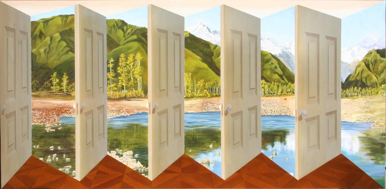 Pleasure Island, 3-D Painting by Patrick Hughes