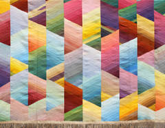 Tapis III, Unique Hand-woven and Hand-dyed Tapestry