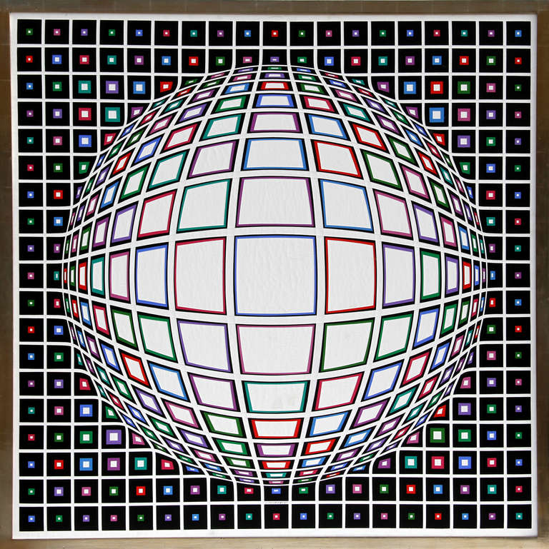 Victor Vasarely Abstract Painting - Bianco
