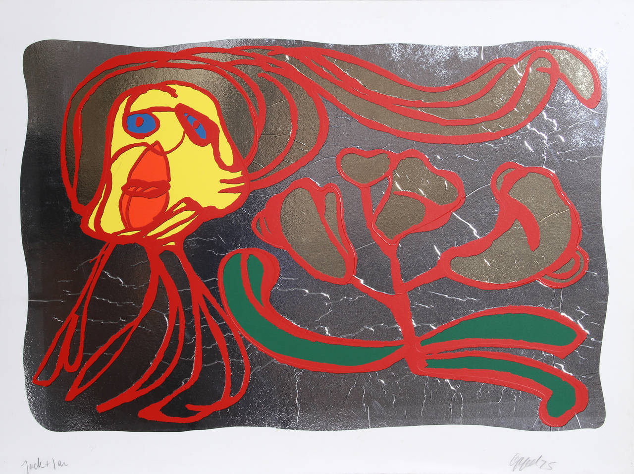 Design Home App How To Move Furniture Karel Appel Floating Silver Passion Print For Sale At