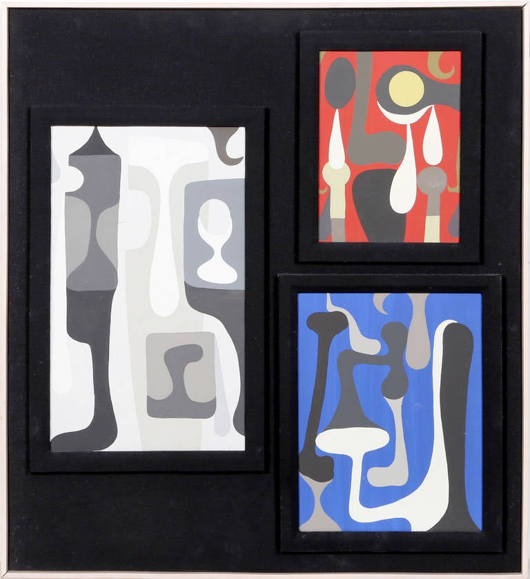 Study for Sculptures (three paintings)