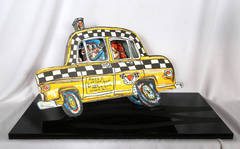 Ruckus Taxi, 3-D Lithograph Cut-Out by Red Grooms
