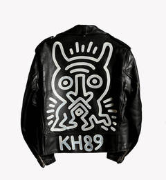 Schott Motorcycle Jacket Painting, by Keith Haring