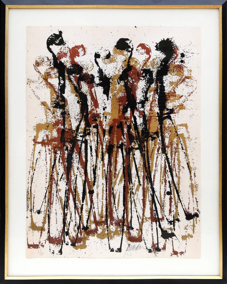 Fernandez Arman Abstract Print - Intermission