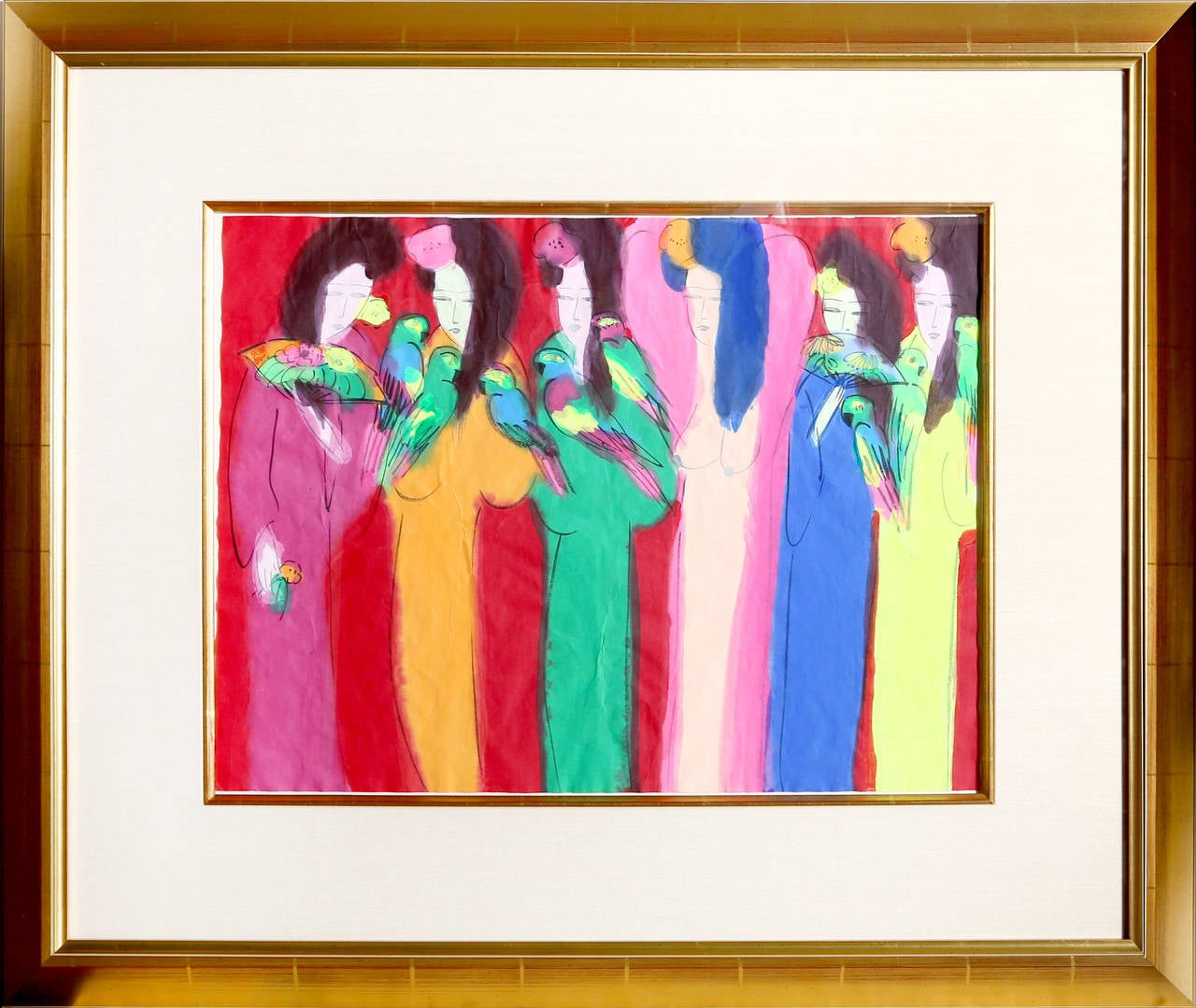 Six Geishas - Art by Walasse Ting