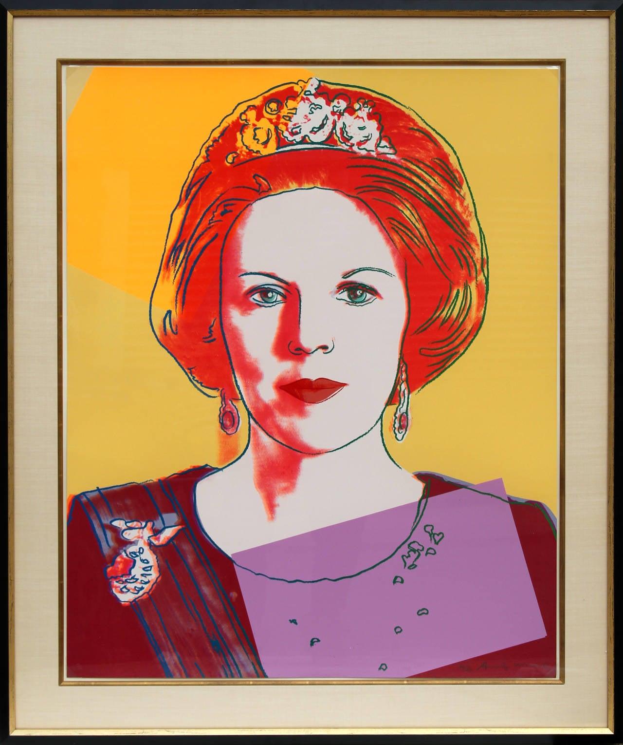 Andy Warhol Portrait Print   Queen Beatrix Of The Netherlands (FS.II.341