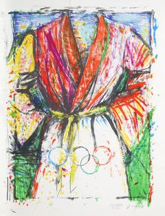 Olympic Robe, Pop Art Lithograph by Jim Dine