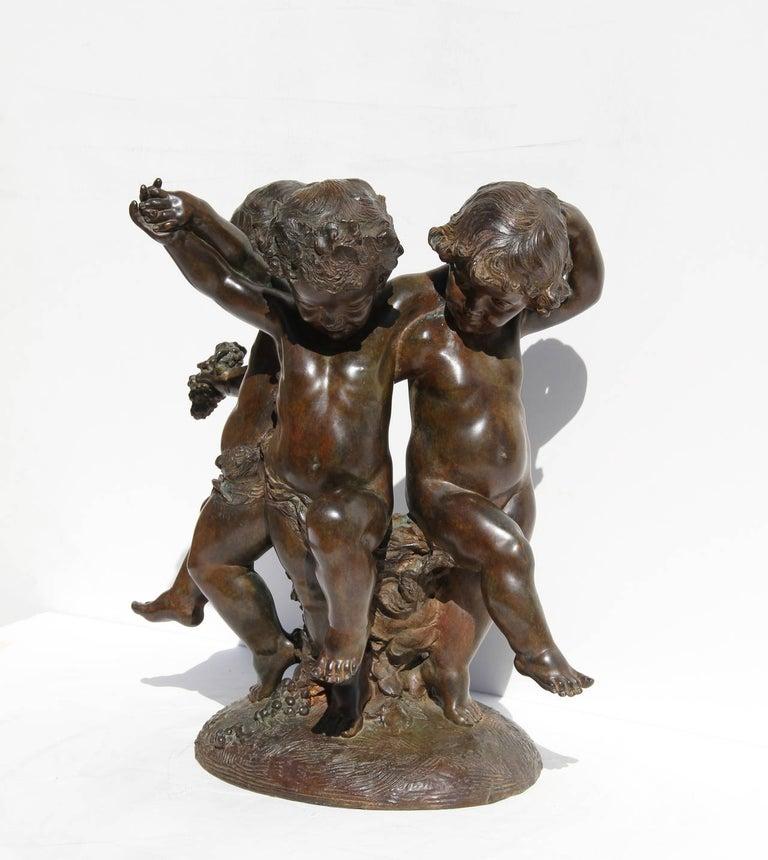 Affortunato Gory Figurative Sculpture - Three Putti