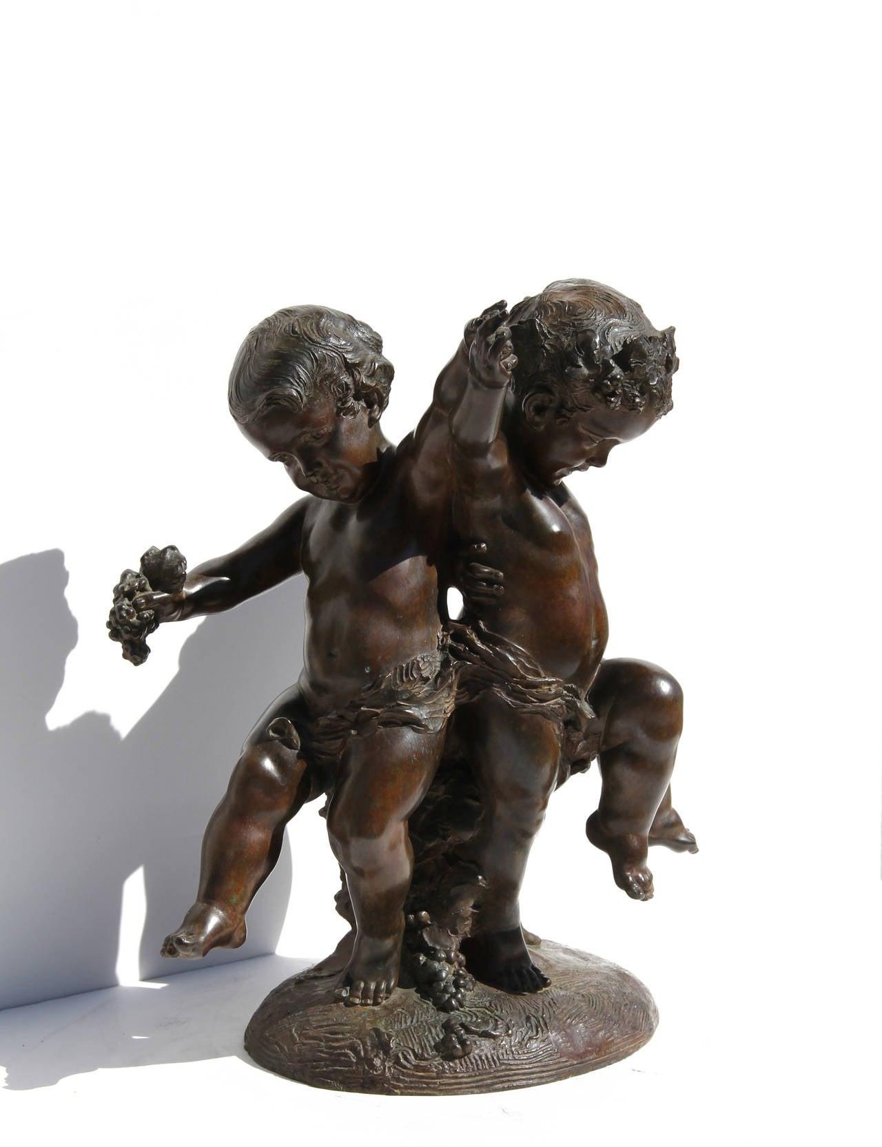 Three Putti - Sculpture by Affortunato Gory