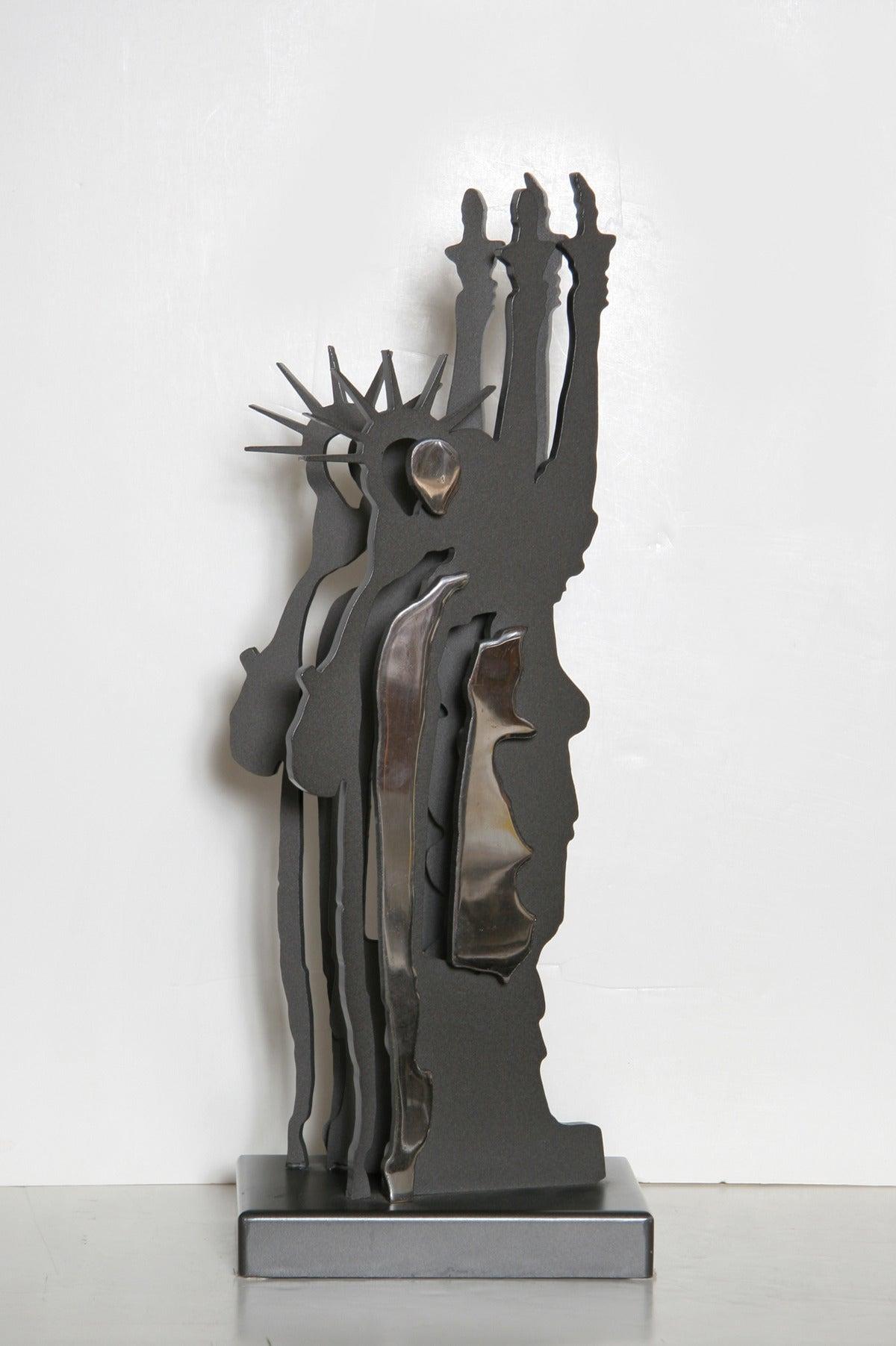 Statue of Liberty - Le Fantome de la Liberte - Black Figurative Sculpture by Fernandez Arman