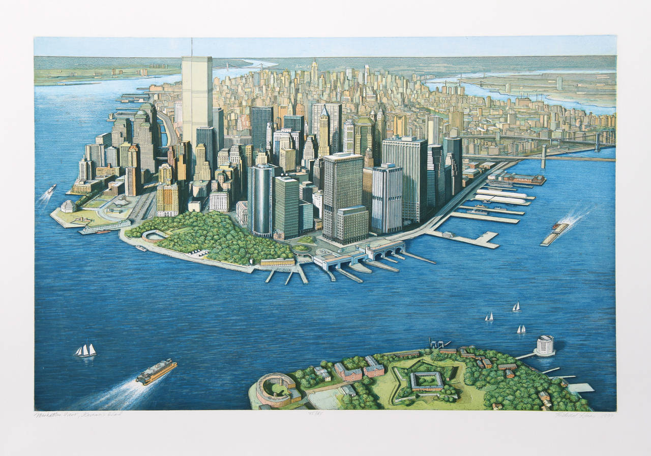 Richard Haas Manhattan View From Governor S Island At