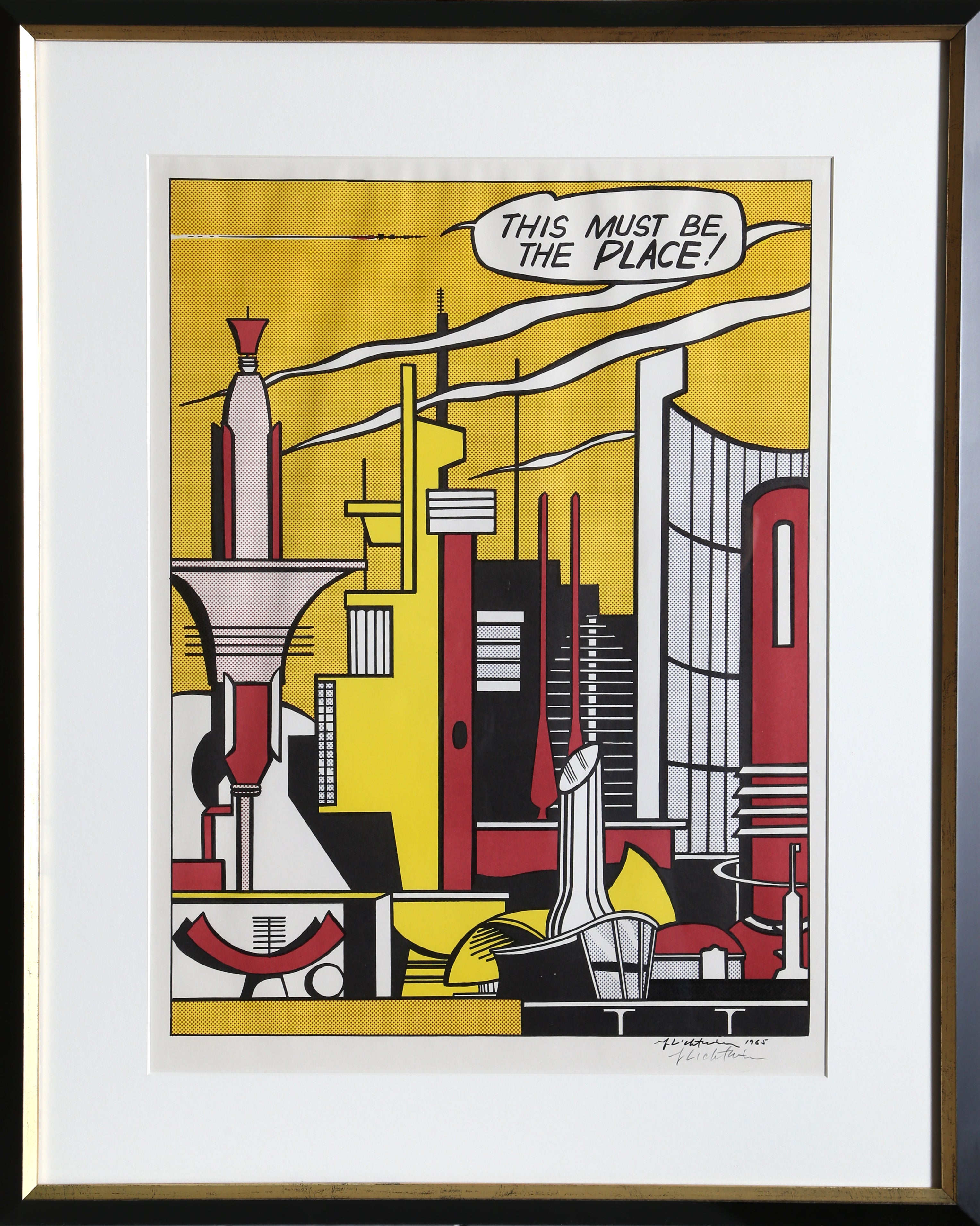 Roy Lichtenstein-Painting with Statue of Liberty-2014 Poster