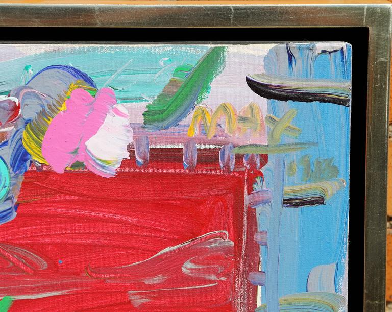 Flower Pot and Window, Acrylic Painting by Peter Max For Sale 2