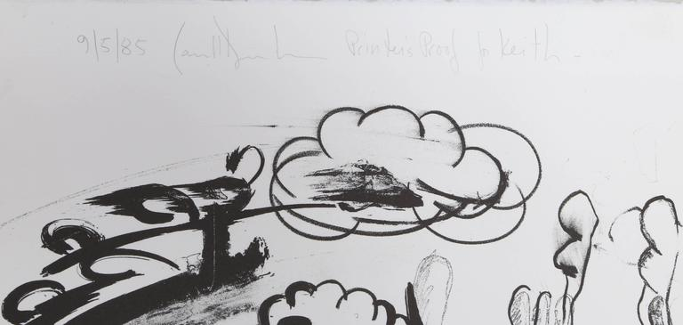 Accelerator, Large Abstract Expressionist Lithograph by Carroll Dunham For Sale 1