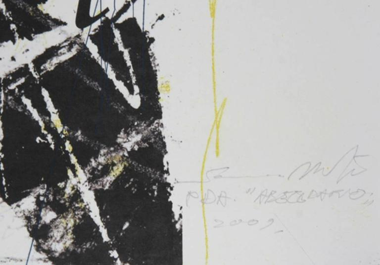 Abecedario (Yellow) - Print by Sandro Martini