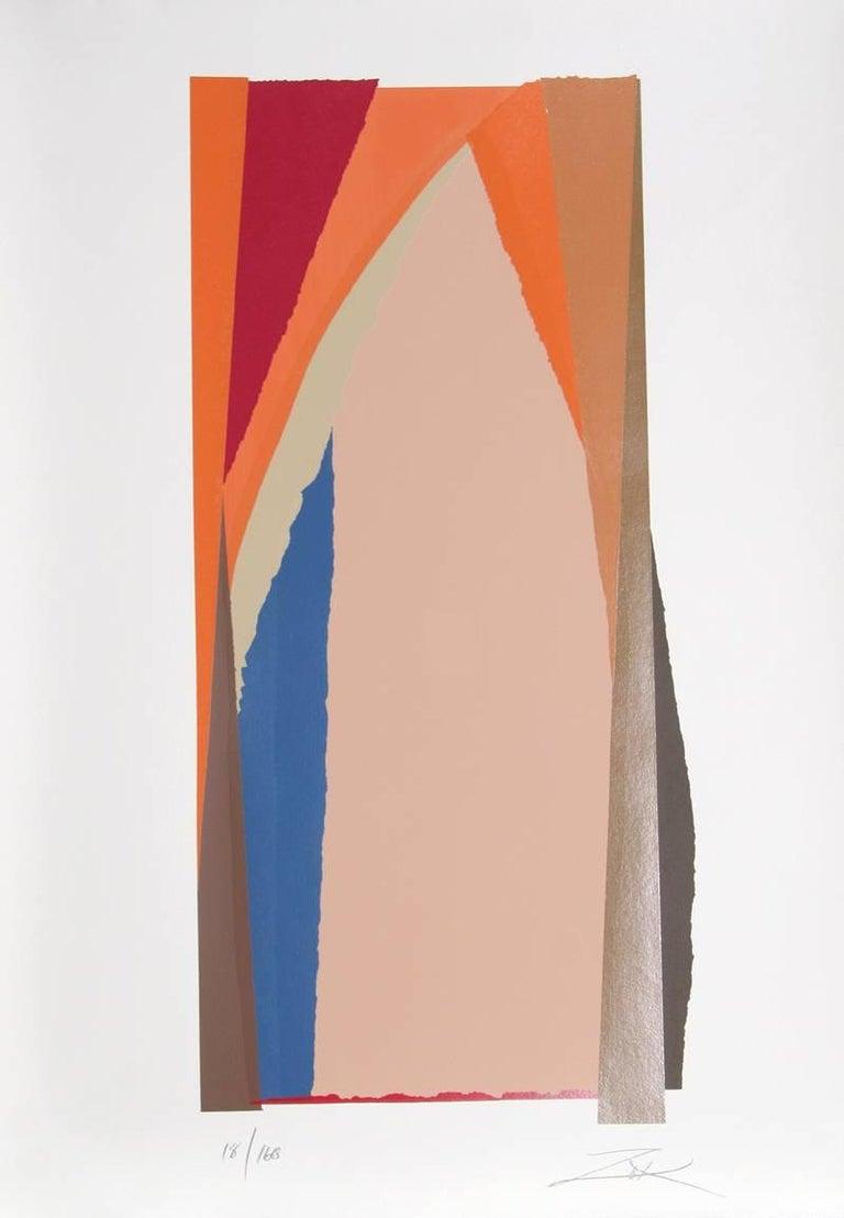 Larry Zox Abstract Print - Bonac II