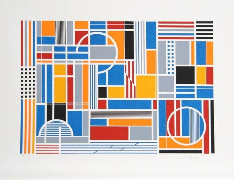 Gisela Beker Abstract Print - Labyrinth