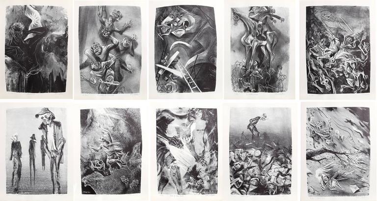 William Gropper - Capriccios Portfolio (50 lithographs) 1