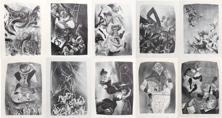 Capriccios Portfolio (50 lithographs) - Print by William Gropper