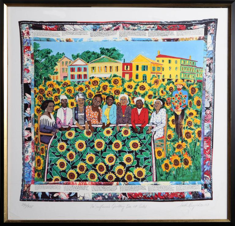 The Sunflower's Quilting Bee at Arles