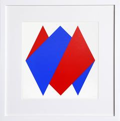 Untitled - Composition in Blue and Red III