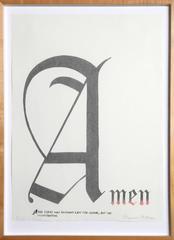 Amen (State II) [collab. with Ed Ruscha]