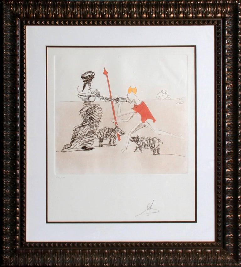 Salvador Dalí Figurative Print - Pastorale from the Histora de Don Quichotte de la Mancha portfolio
