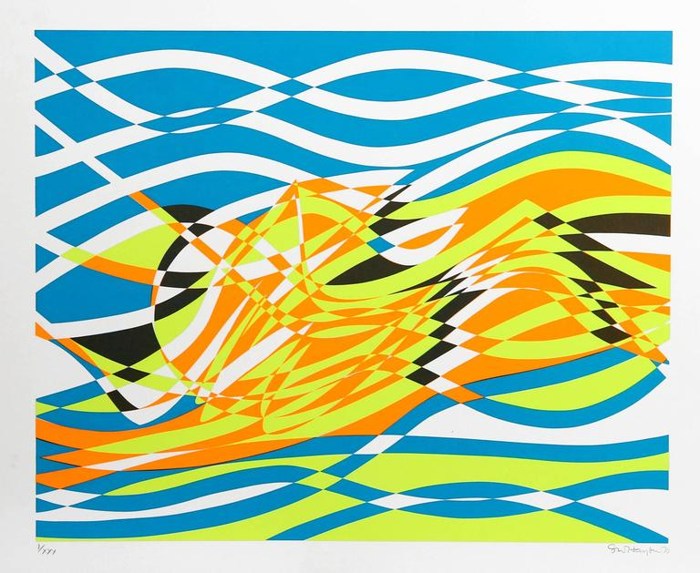 The Aquarius Suite of Four Silkscreens by Stanley Hayter For Sale 5