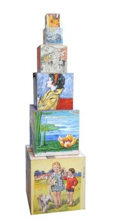 Stacked Illustrated Blocks