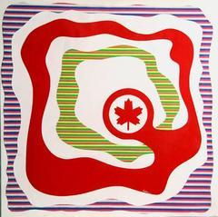 "Max Epstein, ""Air Canada,"" Acrylic Paint on Canvas, 1976"
