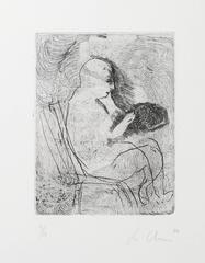 "Sandro Chia, ""Untitled (Uomo,) Etching with Aquatint, 1980"