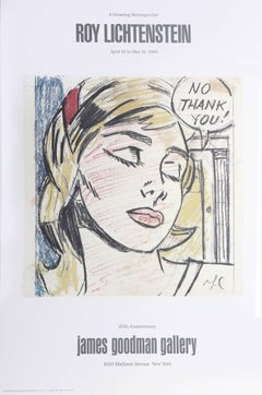 "Exhibition poster ""Roy Lichtenstein: A Drawing Retrospective"" at James Goodman"