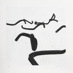 """Bernar Venet, 5 from """"Combinaison Aleatoire de Lignes Indeterminees,"""" 1996"""