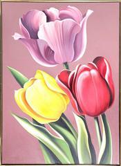 "Lowell Nesbitt, ""Tulipa Hybrida,"" Oil on Canvas, 1976"