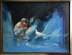 "Lumen Martin Winter, ""Elevated Innocence,"" Oil on Linen, circa 1970"