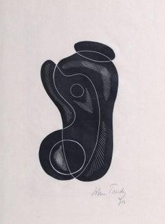 Modern Abstract Woodcut c1928
