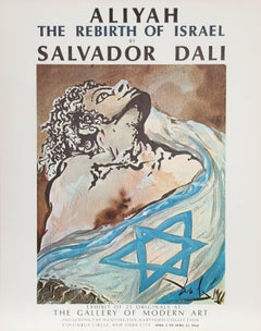 Aliyah The Rebirth of Israel / Gallery of Modern Art, Salvador Dali Poster 1968