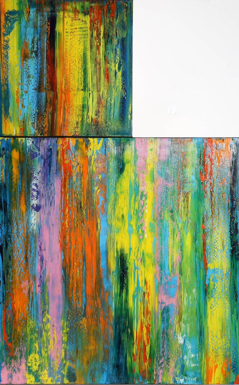 Audrey keeperman dby20 2017 abstract oil painting with for Gold paintings on canvas