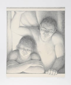 """George Tooker, """"Window,"""" Lithograph, 1994"""