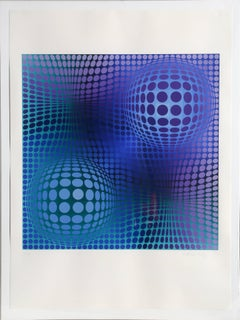 Victor Vasarely - Feny from Homage to Picasso, OP Art Silkscreen