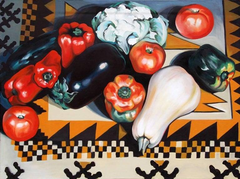 Lowell Nesbitt Still-Life Painting - Vegetables