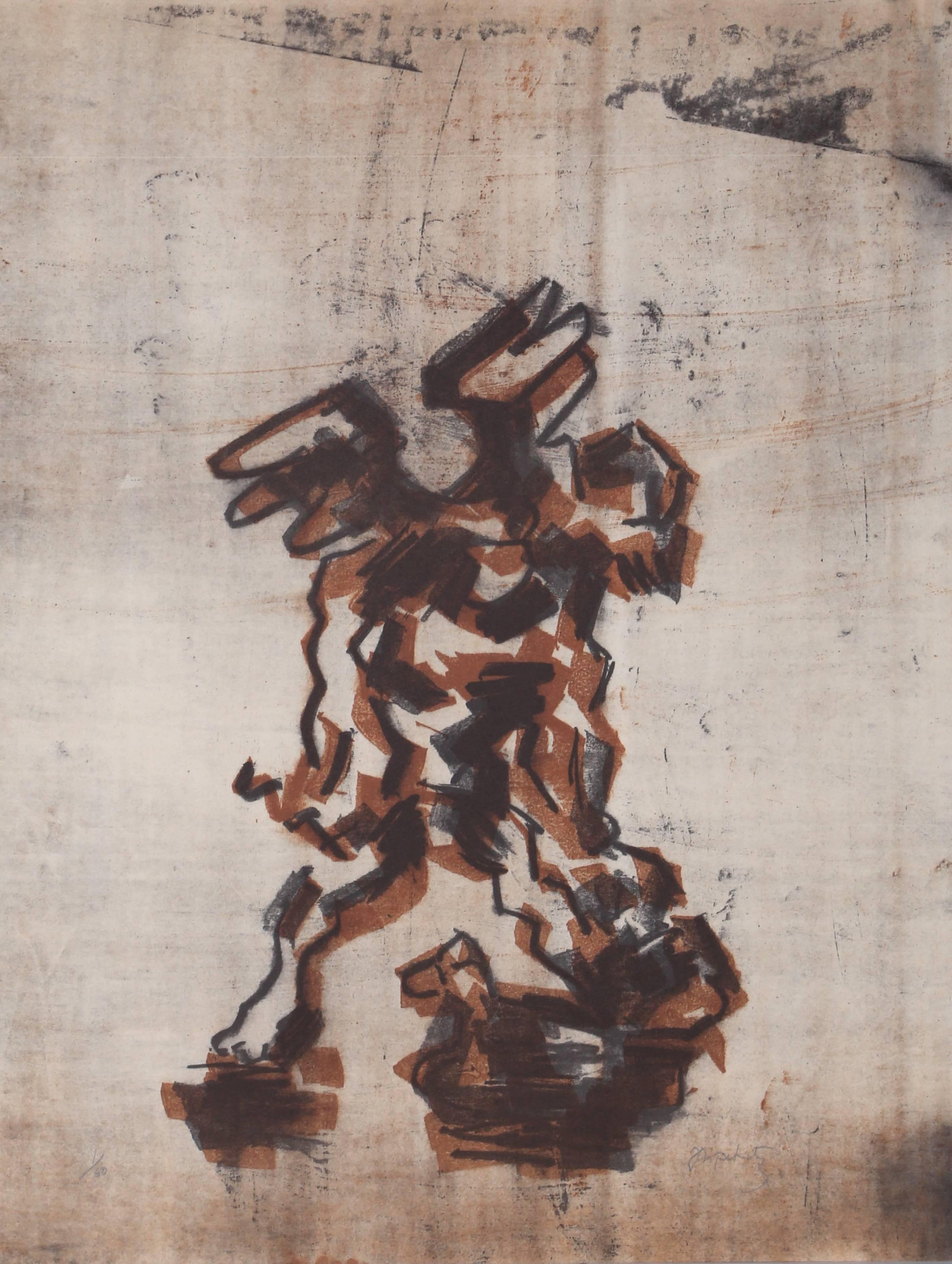Sacrifice of Isaac, Lithograph by Jacques Lipchitz