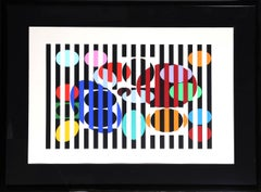 One and Another 5, Kinetic OP Art Serigraph by Agam