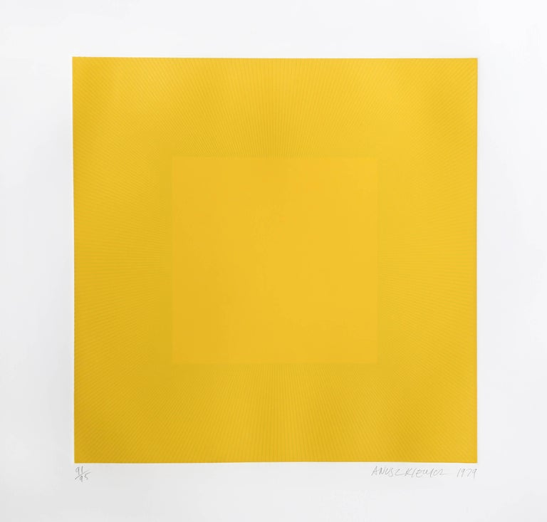 Spring Suite (Yellow with Yellow), OP Art Etching by Anuszkiewicz