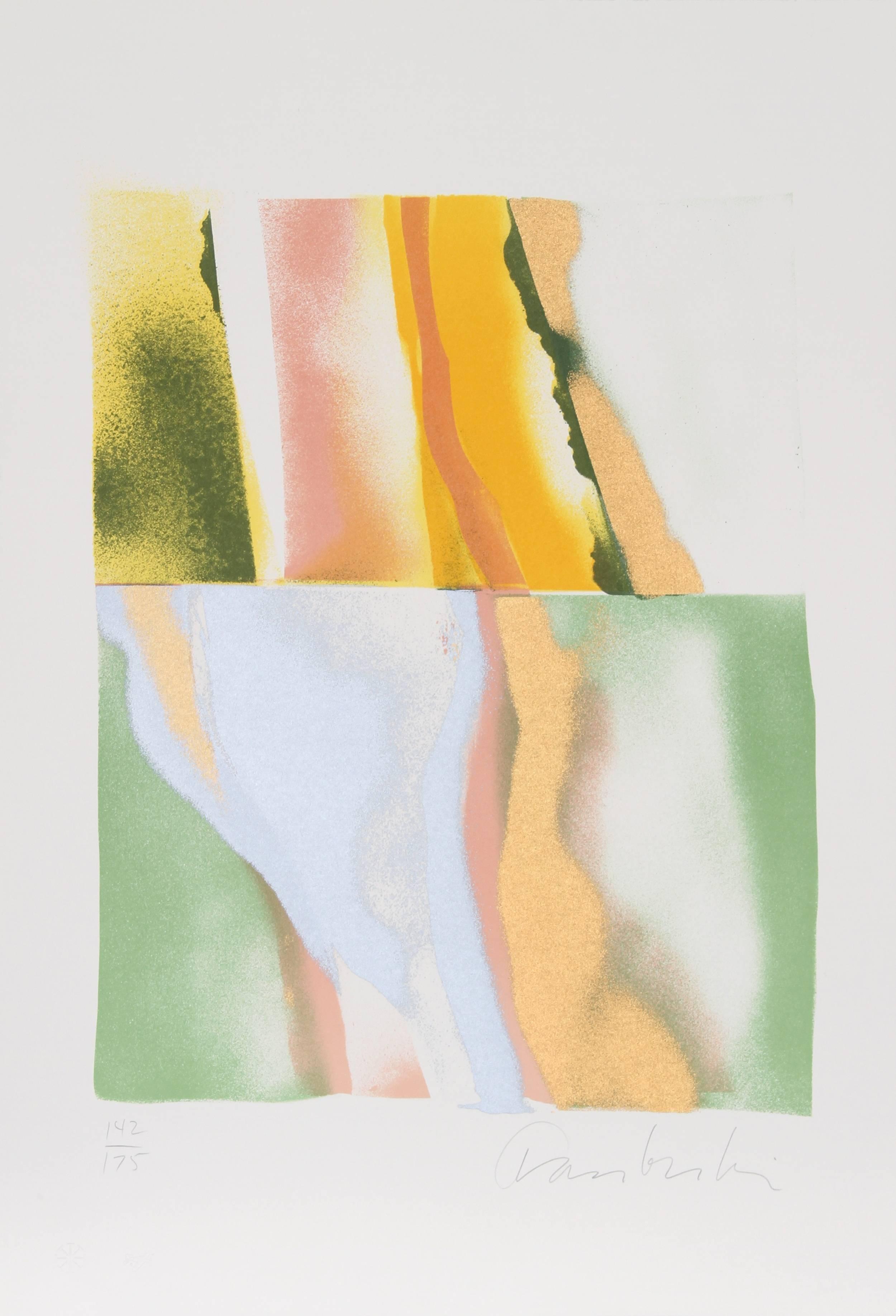 Flashback VI, Abstract Lithograph by John Chamberlain