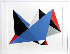 Dallas, Geometric Abstract Silkscreen by Jean-Marie Haessle