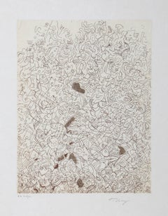 Psaltery, 2nd Form, Abstract Expressionist Etching by Mark Tobey