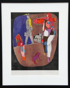 First Ave (Pizza), Pop Art Lithograph by Richard Lindner 1969