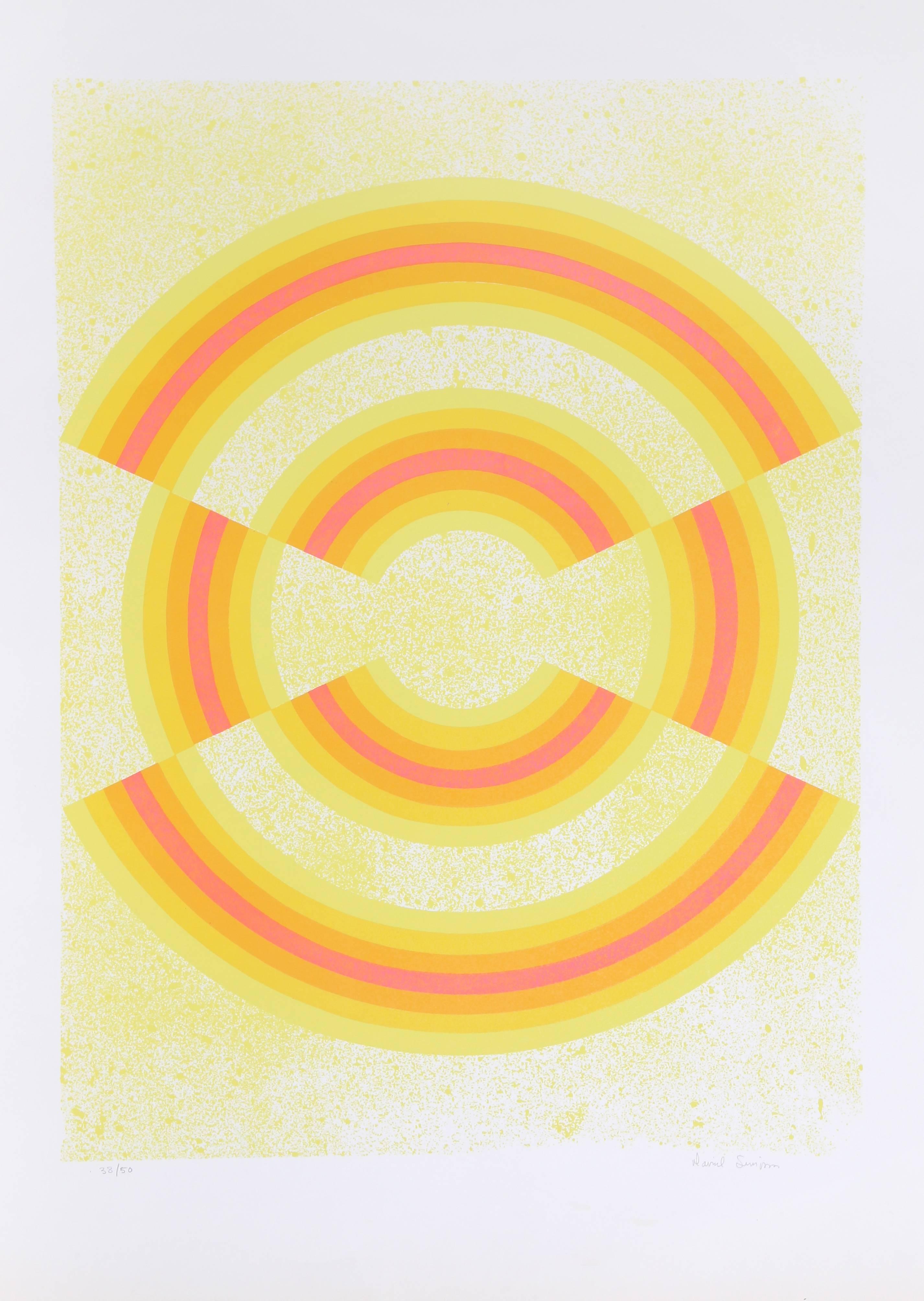 Ovograph, OP Art Serigraph by David Simpson